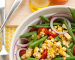 Grilled Corn and Green Bean Salad with Tomatoes