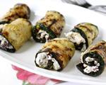 Grilled Eggplant and Goat Cheese Rolls
