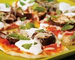 Grilled Eggplant Parmesan Pizzas