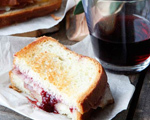 Grilled Ham and Cheese with Strawberry and Red Wine Jam