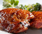 Grilled marmalade chicken