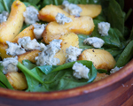 Grilled Peach and Pear Salad with Gorgonzola and Pistachios