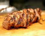 Backyard grilled pork tenderloin