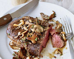 Grilled Rib Eyes with Mushrooms and Fish Sauce