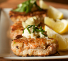 Planked Salmon Burger