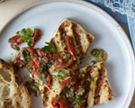 Grilled Tofu Steaks with Fresh Salsa