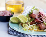 Grilled Tostadas with Radish Salad