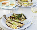 Grilled Trout with Lemon Caper Mayonnaise