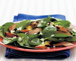 Grilled Chicken and Peach Spinach Salad