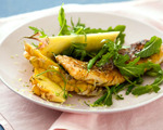 Hake Fillets with Pineapple Wedges
