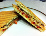 Gluten-Free Roasted Pepper and Serrano Ham Sandwich
