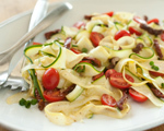 "Herbed Raw Vegetable ""Pasta"" with Tomatoes"