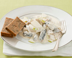 Herring in Cream Sauce with Apples and Walnuts