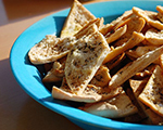Homemade Southwestern-Style Pita Chip Wedges