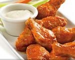 Hot and Spicy Buffalo Wings with Blue Cheese Dressing