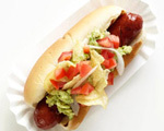 Hot Dogs with Avocado and Chips