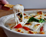 Hot Mozzarella, Tomato and Fresh Basil Dip