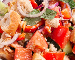 Italian bread salad (panzanella)