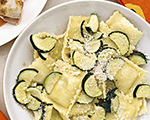 Italian Ravioli with Fresh Zucchini