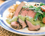 Leg of Lamb with Garlic and Salsa Verde
