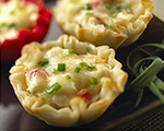 Lobster and Brie Filled Pastry Puffs 