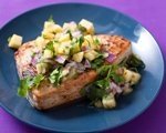 Mahimahi with Cumin Oil and Pineapple Salsa