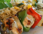 Marinated and Grilled Chicken Kabobs