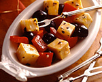 Marinated Kasseri Cheese, Pepper and Olive Medley