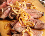 Marinated Steak with Caramelized Onions and Balsamic