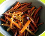 Ginger Marinated Carrots and Turnips