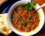 Mexican Chorizo, Lentil and Tomato Soup