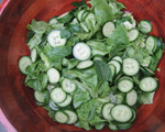 Mint and Parsley Salad with Cucumbers