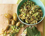 Mint, Green Olive and Celery Salsa