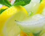Minty ginger lemonade