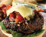 Moroccan Lamb Burgers with Beet, Red Onion, and Orange Salsa
