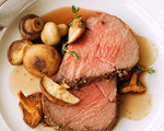 Mother's Day Beef Tenderloin with Roasted Mushrooms