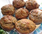 Banana Honey Nut Oat Muffins