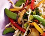 Low-sodium shitake mushroom and veggie stir-fry