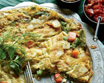 Omelet with Dill, Scallion and Thai Chile