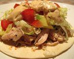 Open Face Chicken Tacos