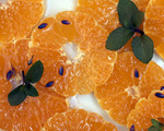 Oranges with Lavender and Mint