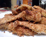 Oven-Baked Chicken Breaded in Panko and Parmesan