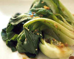 Pan Fried Baby Bok Choy