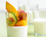 Panna Cotta with Peaches