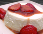Panna Cotta with Strawberries in Balsamic Sauce