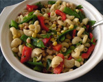 Pasta Salad with Black-Eyed Peas and Corn