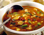 Pasta Shell and Spinach Minestrone Soup