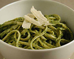 Pasta with Low-Fat Walnut Pesto