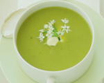 Pea, Basil, and Mint Soup