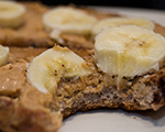Peanut Butter, Chocolate and Banana Bagel